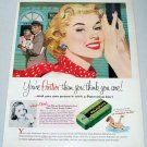1957 Palmolive Soap Bar Color Print Art Ad - Your Prettier