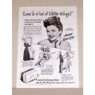 1945 Lux Toilet Soap Vintage Print Ad Celebrity Anne Baxter