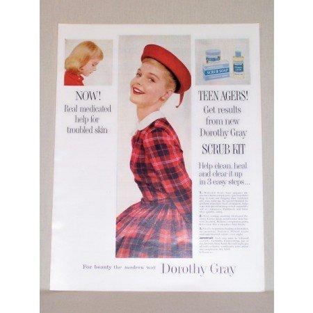 1957 Dorothy Gray Skin Cleanser Scrub Kit Color Print Ad
