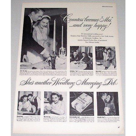 1948 Woodbury Facial Soap Vintage Print Ad - Countess Becomes...