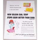 1957 Golden Dial Beauty Soap Fitch Art Color Print Ad