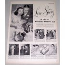1948 Woodbury Facial Soap Vintage Print Ad - Love Story