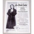 1953 Lux Soap Mink Contest Vintage Print Ad Celebrity Susan Hayward