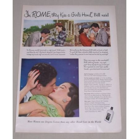 1949 Jergens Lotion Color Print Ad - In Rome