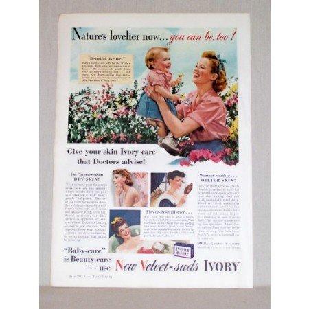 1942 Ivory Soap Color Print Ad - Beautiful Like Me!
