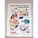 1942 Swan Floating Soap Color Art Print Ad - Swan-derful Suds