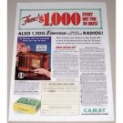 1938 Camay Soap Emerson Miracle Tone Chamber Radio Offer Color Print Ad