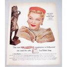 1954 Lux Soap Color Print Ad Celebrity Anne Baxter