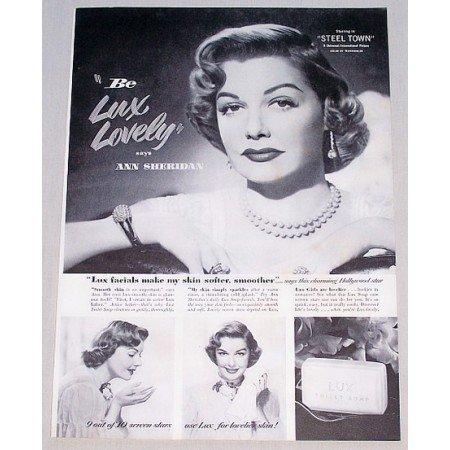 1952 Lux Toilet Soap Vintage Print Ad Celebrity Ann Sheridan