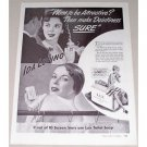 1942 Lux Toilet Soap Vintage Print Ad Celebrity Ida Lupino