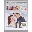 1944 Palmolive Soap Vintage Color Print Wartime Ad - Palmolive Plan