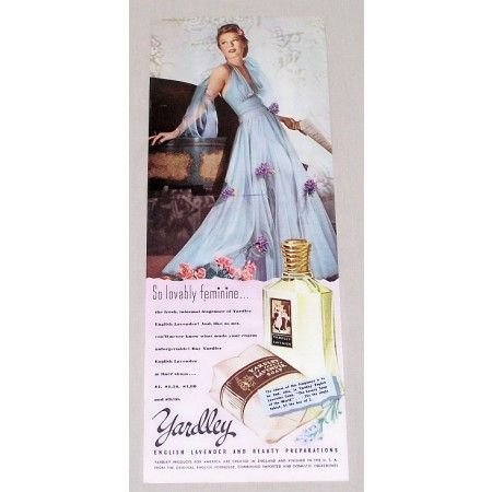 1942 Yardley English Laverder Soap Vintage Color Print Ad