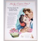 1949 Palmolive Soap Color Print Art Ad - Complexion Problem?