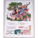 1943 Swan Soap Mother Goose Art Color Print Ad
