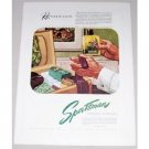 1946 Sportsman Grooming Essentials Color Print Ad