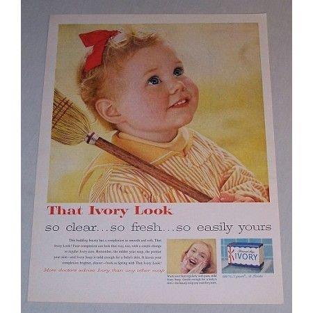 1958 Ivory Soap Color Print Ad - That Ivory Look