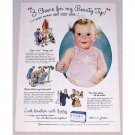 1944 Ivory Soap Color Print Ad - 3 Cheers For My Beauty Tip!