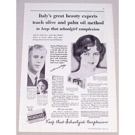 1931 Palmolive Soap Vintage Print Ad - Italy's Great Beauty