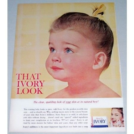 1962 Personal Size Ivory Soap Color Print Ad - That Ivory Look