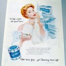1950 Soft Weve Bath Tissue Color Print Art Ad