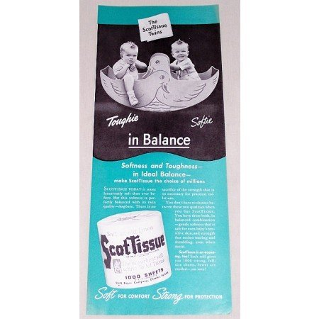 1942 ScotTissue Toilet Tissue Color Print Ad - In Balance