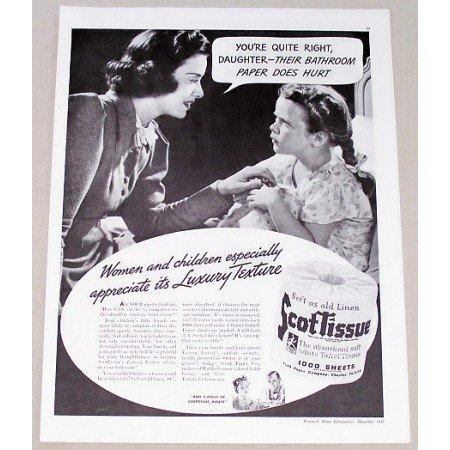 1937 Scotissue Toilet Tissue Vintage Print Ad - Your Quite Right