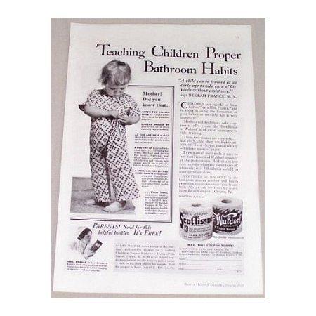1935 ScotTissue Toilet Tissue Vintage Print Ad - Teaching