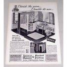 1945 American Radiator Standard Sanitary Bathroom Vintage Print Ad