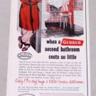 1953 Gerber Bathroom Plumbing Fixtures Color Print Art Ad