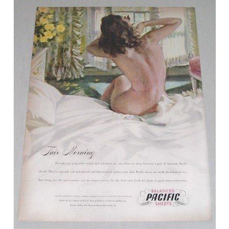 1946 Pacific Balanced Sheets Color Print Art Ad - Fair Morning