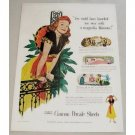 1948 Cannon Percale Sheets Color Print Ad - Magnolia Blossom