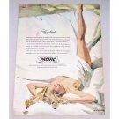 1952 Balanced Pacific Sheets Color Art Vintage Print Ad - Lazybones