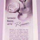 1943 Fostoria Romance Etched Glassware Vintage Print Ad