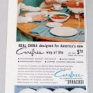 1958 Syracuse Carefree China Dinnerware Color Print Ad