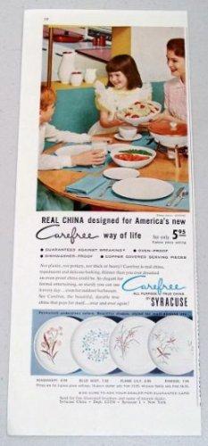 1958 Syracuse Carefree China Dinnerware Color Print Ad