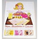 1960 Scotkins Table Napkins Color Print Art Ad
