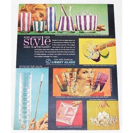 1962 Libbey Glasses Color Print Ad