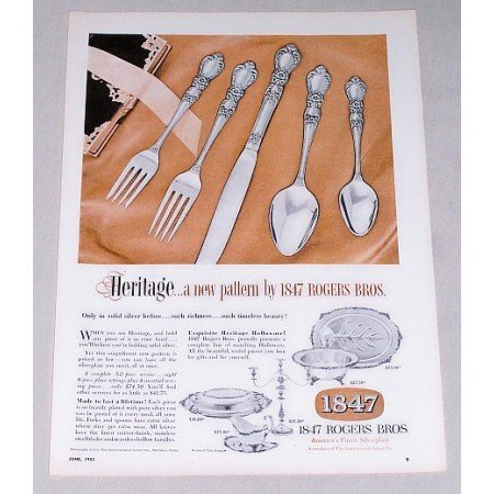 1953 Color Print Ad for 1847 Rogers Bros Silver Flatware