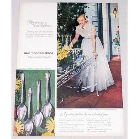 1948 Color Print Ad for 1847 Rogers Bros. Silverplate Flatware
