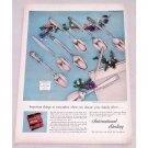 1956 International Sterling Silver Flatware Color Print Ad