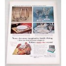 1956 Libbey Safedge Glassware Tempo Royal Fern Color Print Ad