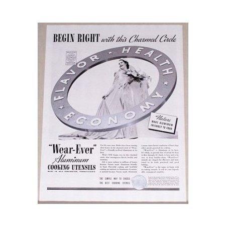 1938 Wear-Ever Aluminum Cooking Utensils Vintage Print Ad