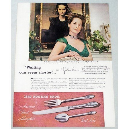 1945 Color Print Ad for 1847 Rogers Bros Silverplate Flatware