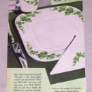1953 Sutherland Serviset Table Setting Plates Cups Color Print Ad