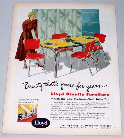 1949 Lloyd Dinette Furniture Color Print Ad