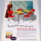 1949 Lloyd Dinette Furniture Color Print Ad