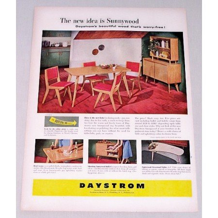 1958 Daystrom Furniture Color Print Ad Sunnywood
