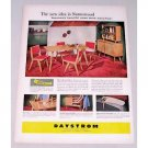 1958 Daystrom Furniture Color Print Ad Sunnywood