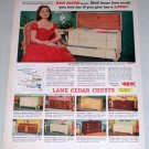 1953 Lane Cedar Chest Model 2853 Color Print Ad Celebrity Ann Blyth