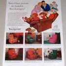1953 Barcalounger Recliner Furniture Color Christmas Vintage Print Ad